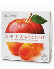 Clearspring Fruit Puree Apple & Apricot 2 X 100g
