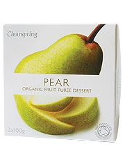 Clearspring Fruit Puree Pear/Banana 2 X 100g