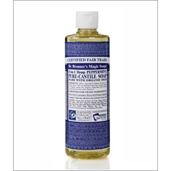 Dr Bronner Peppermint Castile Liquid Soap 473ml