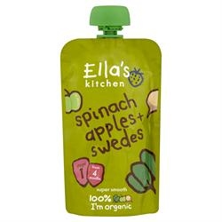 Ellas Kitchen S1 Spinach, Apples & Swede 120g