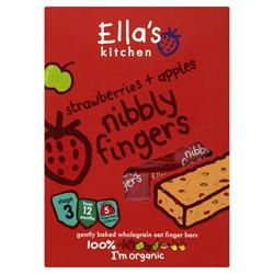 Ellas Kitchen Nibbly Fingers - Strawb & Appl 125g