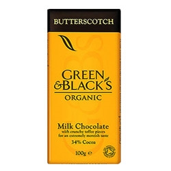 Green & Blacks Organic Milk Butterscotch Choc 100g