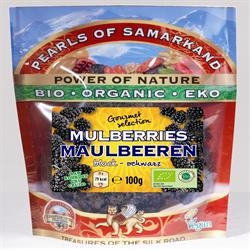 Pearls of Samarkand Org Black Mulberries 100g