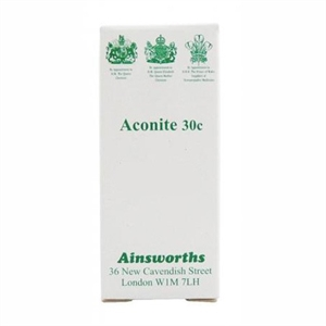 Ainsworths Aconite 30c Homoeopathic Rem 120 tablet