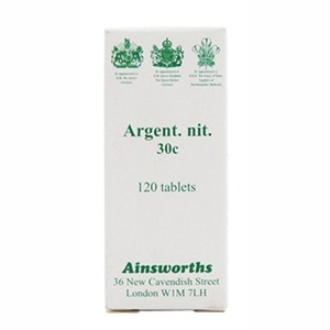 Ainsworths Argent Nit 30C Homoeopathic 120 tablet