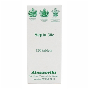 Ainsworths Sepia 30C Homoeopathic Rem 120 tablet