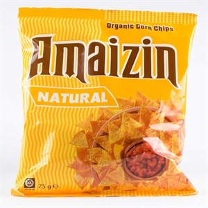 Amaizin Org Natural Corn Chips 75g