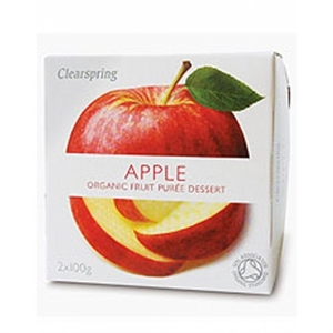 Clearspring Fruit Puree Apple 2 X 100g