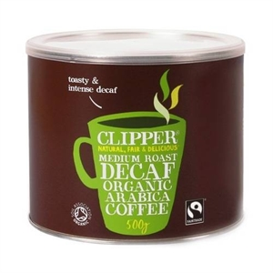 Clipper Medium Roast Decaf Inst Coffee 500g