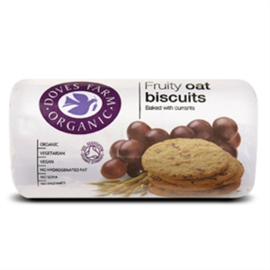 Doves Farm Org Fruity Oat Biscuits 200g