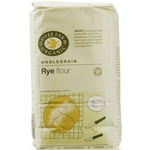 Doves Farm Org Wholemeal Rye Flour 1000g