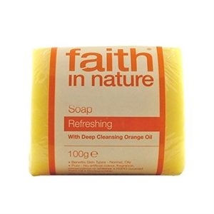 Faith in Nature Grapefruit Soap unwrapped 18 box