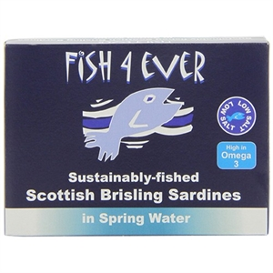 Fish4Ever Wild Sprats in Spring Water 105g