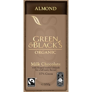 Green & Blacks Milk Choc with Chopped Almond 90g