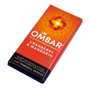 Ombar Cranberry & Mandarin Bar 35g