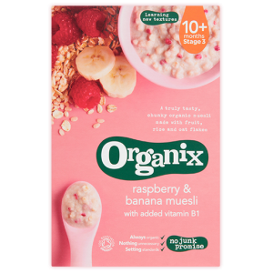 Organix Banana and Raspberry Muesli 200g