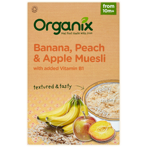 Organix Banana Peach & Apple Muesli 200g