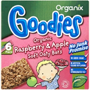 Organix Apple & Ras Cereal Bar 6 x 30g