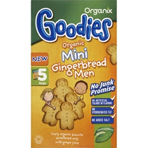 Organix Goodies Biscuits G/Bread Men 25g