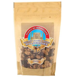 Pearls of Samarkand Org Black & White Mulberries 100g