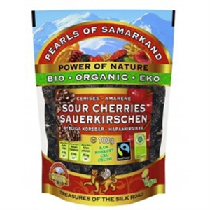 Pearls of Samarkand Org F/T Sour Cherries 100g