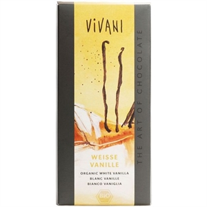 Vivani White Choc with Bourbon Vanill 80g